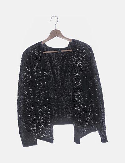 Chaqueta tricot con paillettes