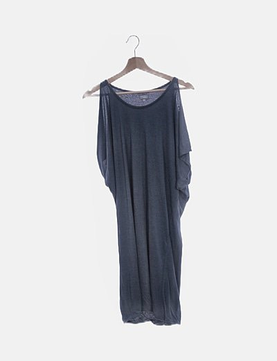 Vestido oversize azul marino
