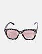 Gafas de sol cuadradas negras con tachas LEZIFF