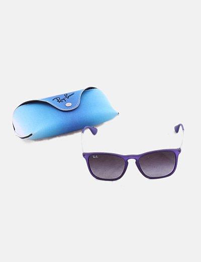 Gafas de sol montura goma azul