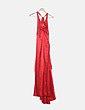 Vestido maxi satinado rojo Easy Wear
