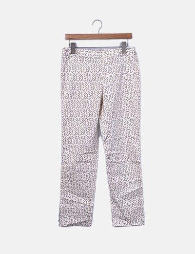 Pantalón chino beige estampado hormigas