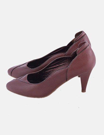 Zapato marrón de piel