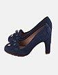 Zapato mocasin azul marino Uterqüe
