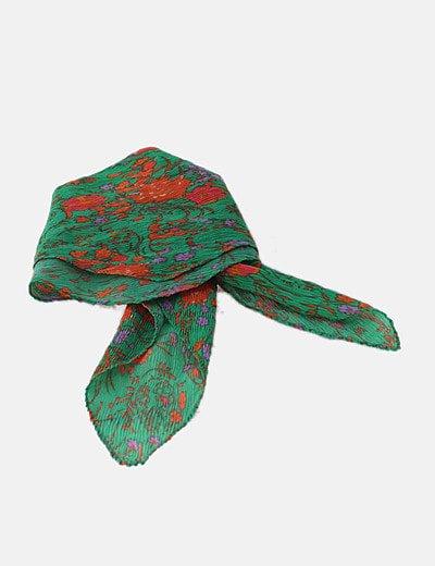 Pañuelo verde floral