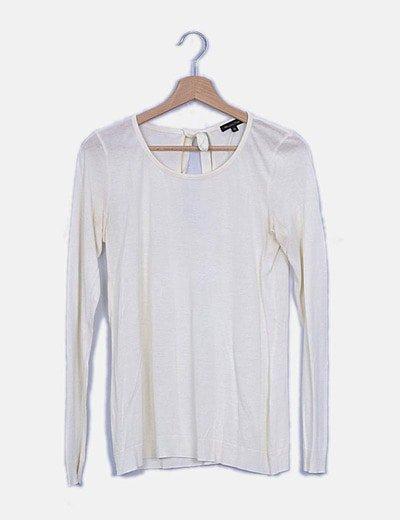 Camiseta de manga larga con lazo en la espalda