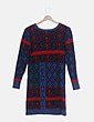 Vestido tricot azul marino estampado Peace + love
