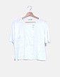 Camiseta blanca oversize detalle tachas Zara