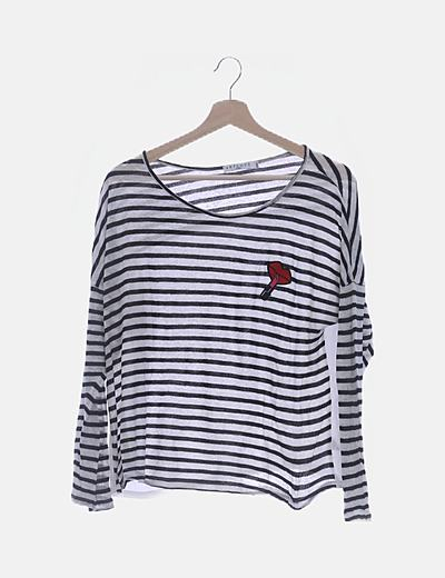 Jersey tricot rayas bicolor