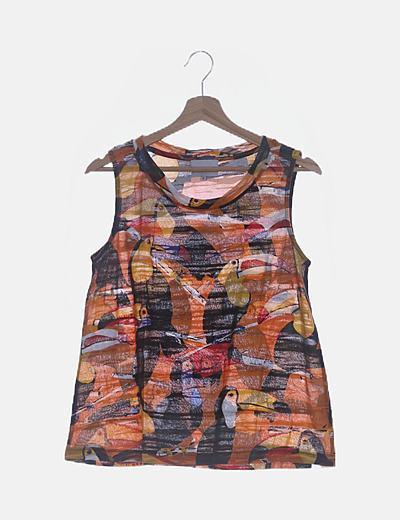 Camiseta print multicolor