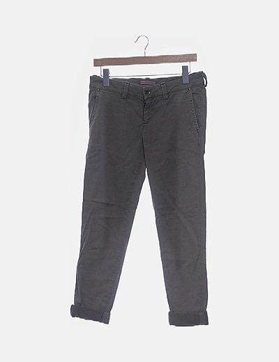 Pantalón chino denim gris