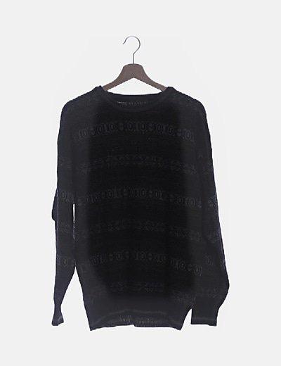 Jersey negro combinado grecas