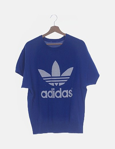 Jersey azul Adidas manga corta