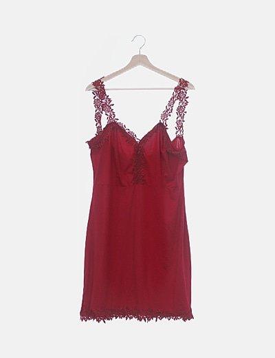 Vestido rojo de tirantes