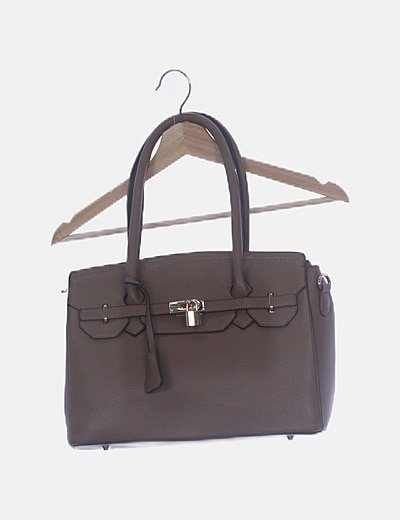 Bolso tote taupé