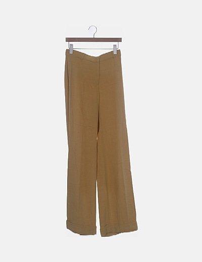 Pantalón fluido amarillo