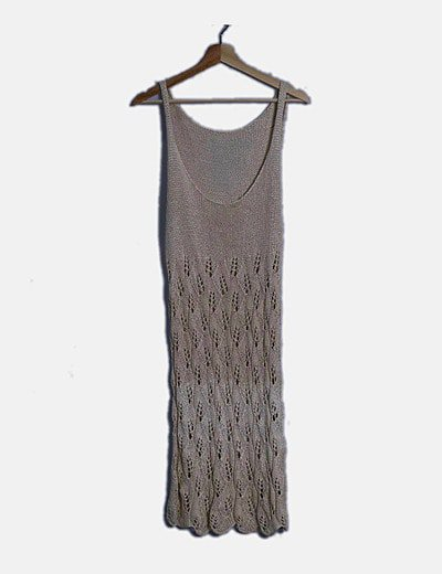 Vestido beige tricot
