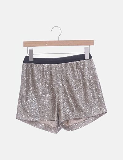 Short paillettes dorado