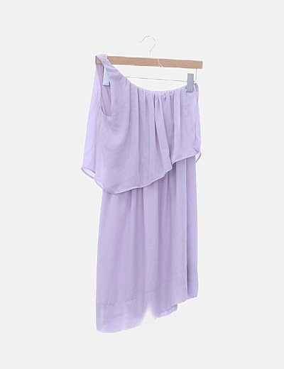 Vestido fluido lila