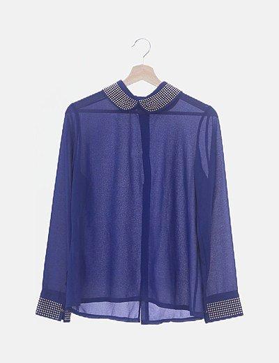 Camisa de gasa azul