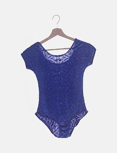 Body azul velvet