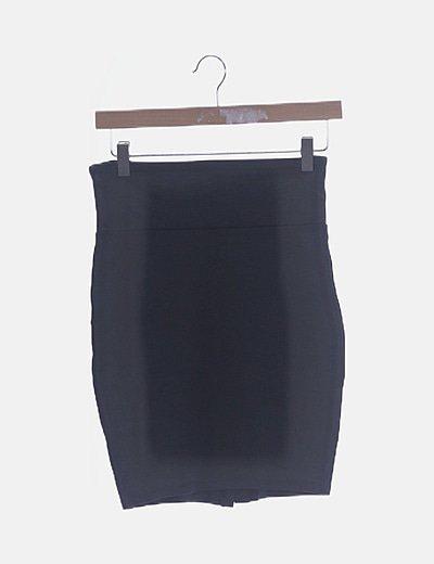 Falda ceñida gris