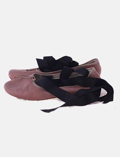 Bailarina bicolor lace up