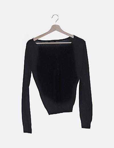 Camiseta tricot manga larga negra
