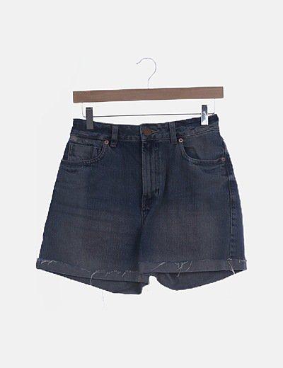 Short denim azul