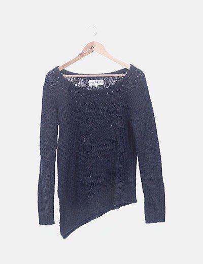 Jersey lana asimétrico