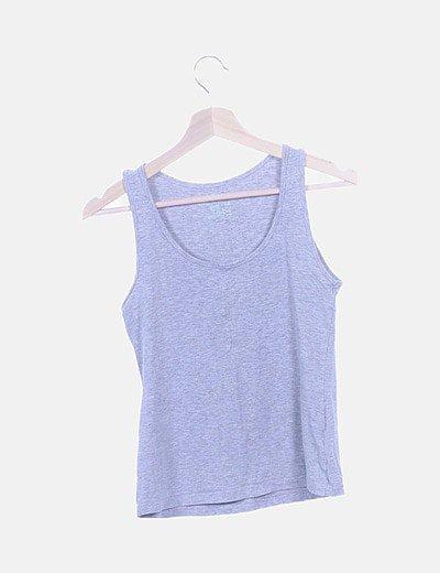 Camiseta deportiva gris jaspeada