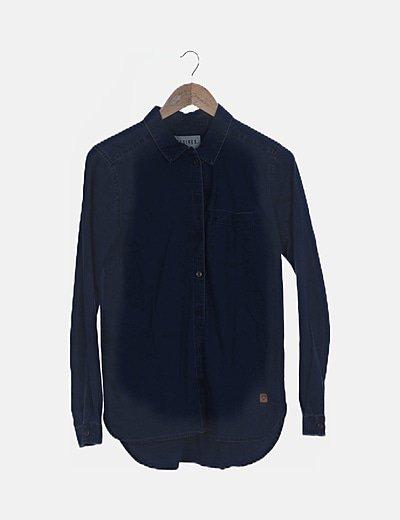 Camisa denim azul medio