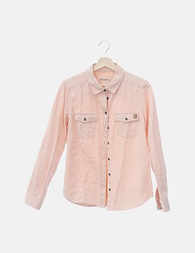 Camisa denim rosa baby