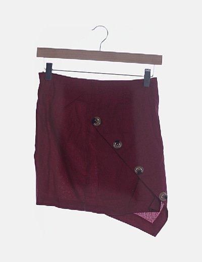 Conjunto falda y top rojo