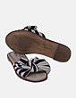 Sandalia de esparto bicolor Bershka