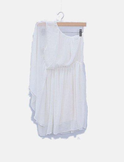 Vestido blanco una manga
