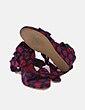 Sandalia de cuña roja y azul Women'secret