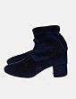 Botín calcetín velvet azul Pull&Bear