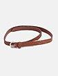 Cinturón marrón troquelado Made in china
