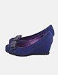 Zapato cuña azul marina Lolablue
