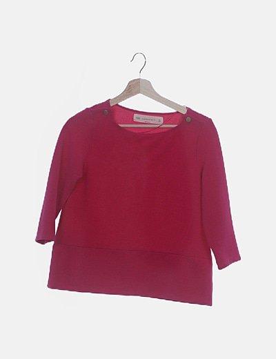 Camiseta rosa texturizada
