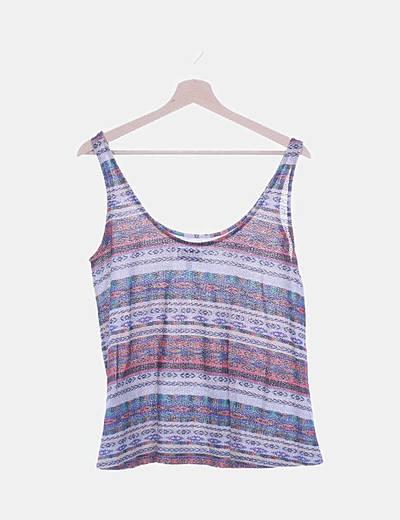 Camiseta de tirantes tricot muticolor
