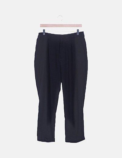 Pantalón chino negro fluido