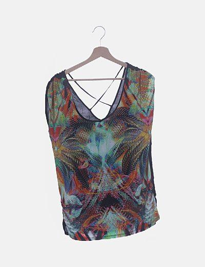 Camiseta estampada multicolor