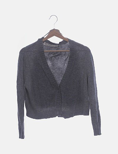 Jersey tricot gris cropped