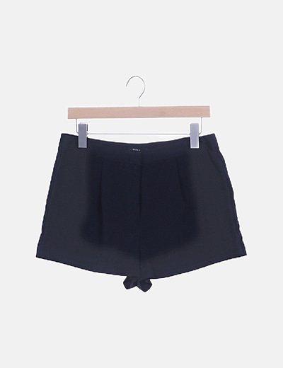 Short chino satinado negro