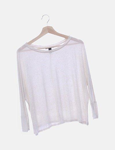 Camiseta cruda jaspeada