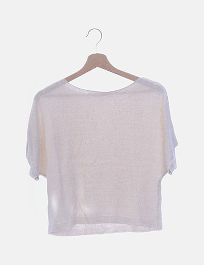 Camiseta tricot cruda