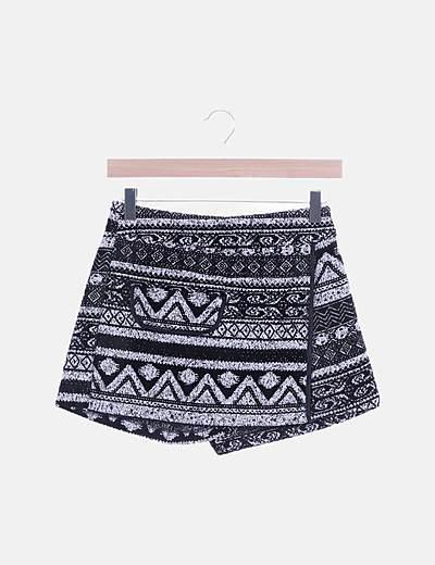 Falda pantalón étnica