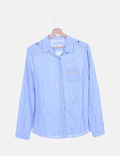 Camisa azul fluida